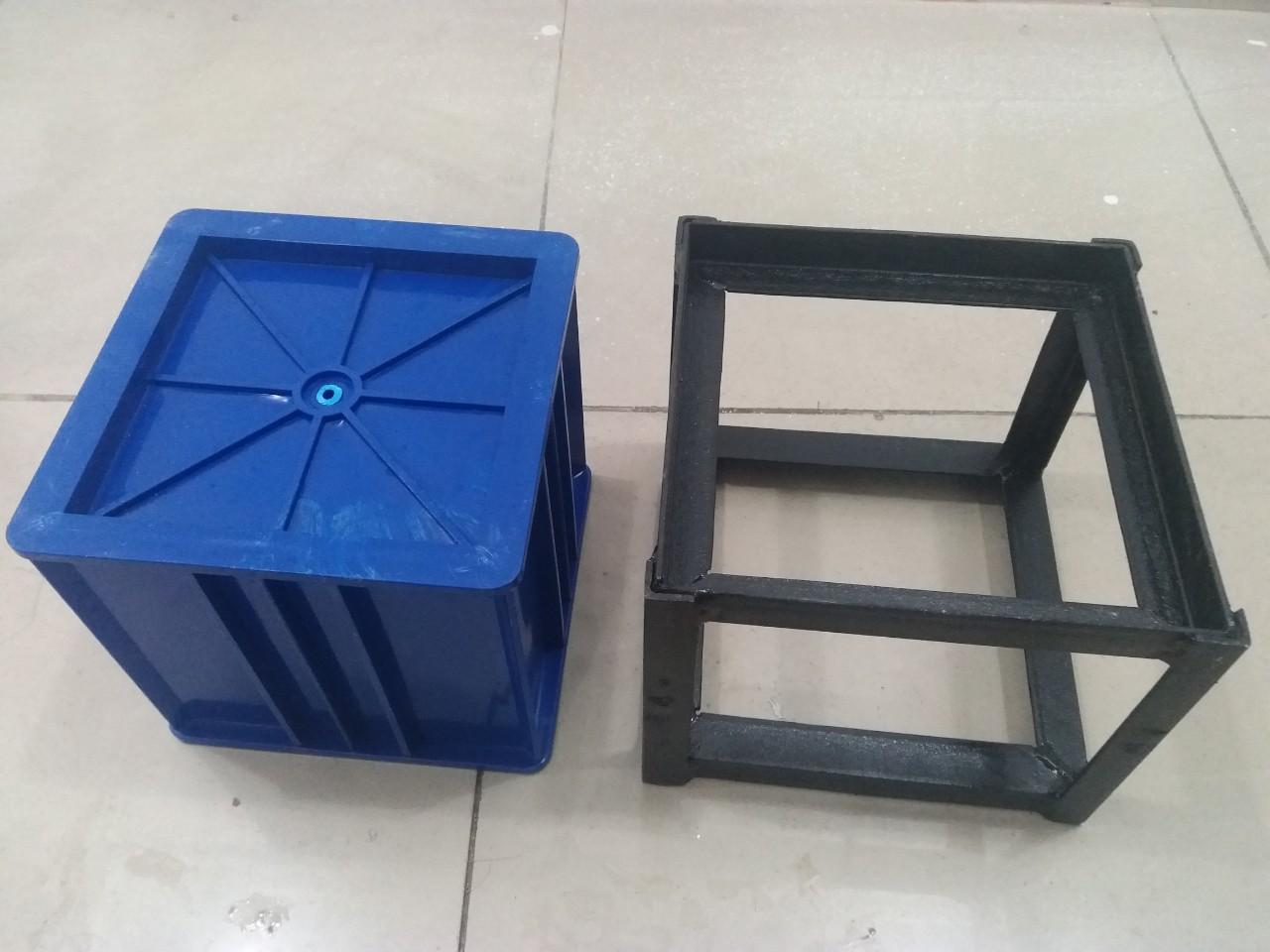Dụng cụ lấy mẫu bê tông nhựa 15x15x15