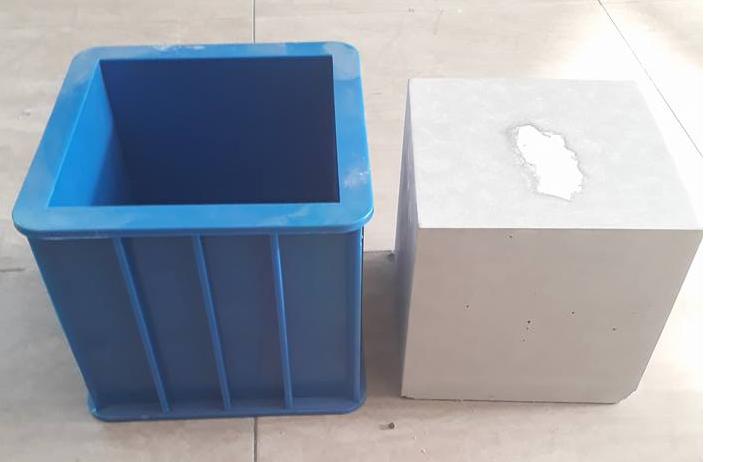 Khuôn đúc mẫu bê tông lập phương 150x150 bằng nhựa