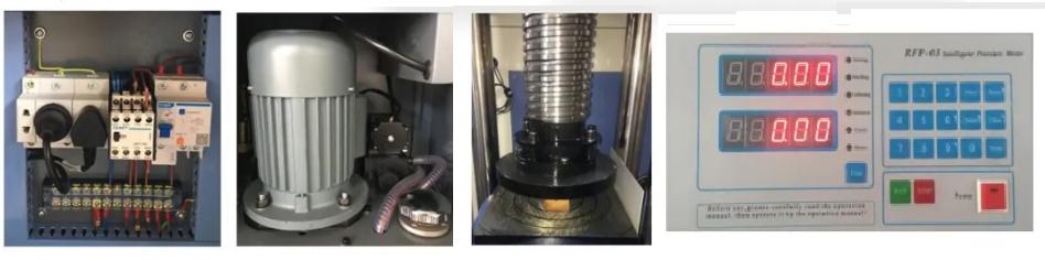 máy nén bê tông điện tử 200 tấn